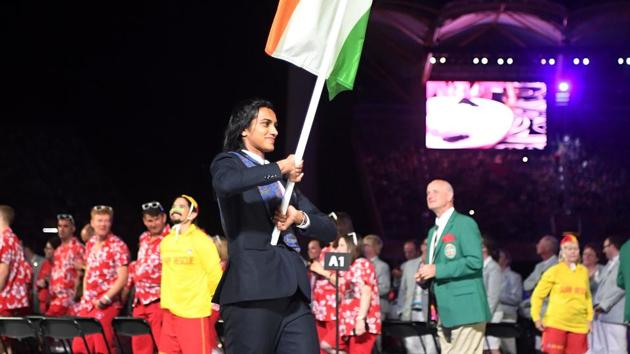 Follow highlights of Commonwealth Games 2018 opening ceremony here as Gold Coast plays host to the 21st edition of the Games. India's flag bearer PV Sindhu leads her team into Carrara Stadium for the opening ceremony.(AFP)