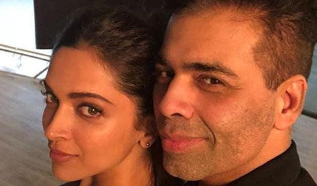 Deepika Padukone and Karan Johar after working together for a Dharma 2.0 production.
