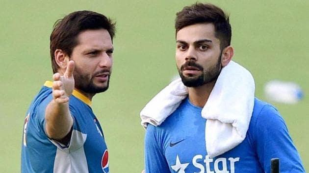 Virat Kohli, Indian cricket team captain, has opposed Shahid Afridi's statements on Kashmir.(PTI)
