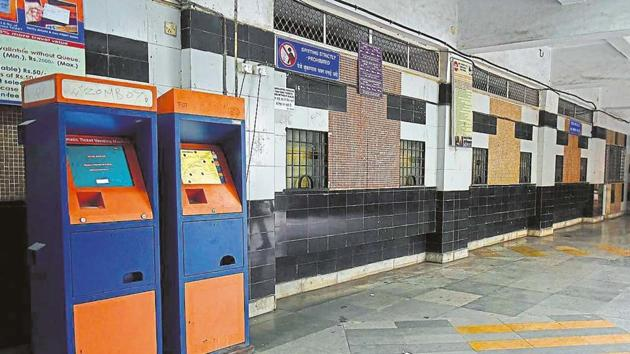 Passengers use these smart-card based machines to book single-journey tickets and monthly pass.(FILE)