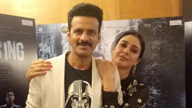 Manoj Bajpayee and Tabu during the promotions of Missing in Mumbai.(IANS)