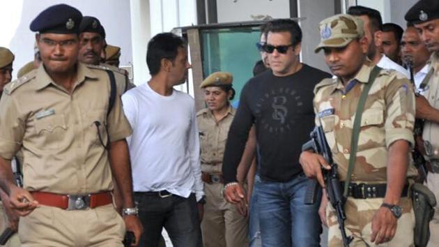 Salman Khan arrives at Jodhpur, Rajasthan on Wednesday, 04 April 2018. (All photo: HT)