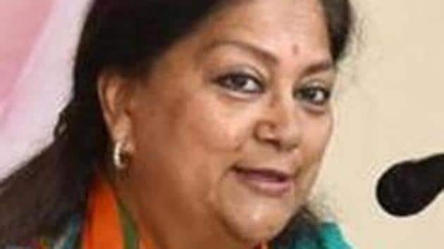 Raje will now visit constituencies for three to four days and the first such visit will be to Sikar from April 6.(HT File)
