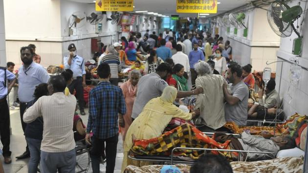 The institute has a crowding problem in the emergency wing too.(HT File)