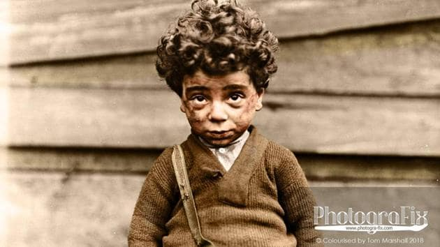 Child labour wasn't exactly a secret in America, but it wasn't something discussed in 'polite society'. The photo above is from Chicago, 1910.(PhotograFix)