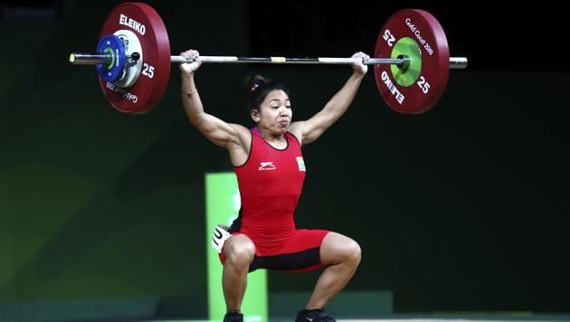 Mirabai Chanu also noted the absence of a physio after winning India's first 2018 Commonwealth Games gold medal.(AP)