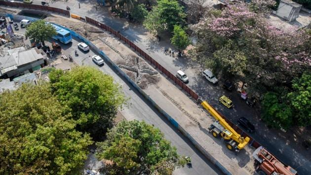 Maharashtra Metro Rail is a 50:50 Indian and Maharashtra government joint venture executing the Rs11,420 crore Pune Metro project.(Sanket Wankhade/HT PHOTO)
