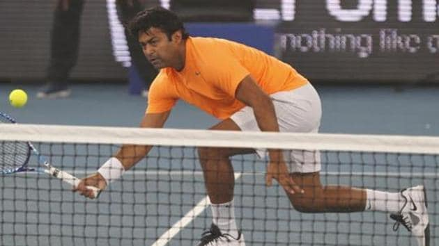 Leander Paes is tied on 42 wins with Italian great Nicola Pietrangeli and one more win will make him the most successful doubles player in the history of Davis Cup.(Hindustan Times)
