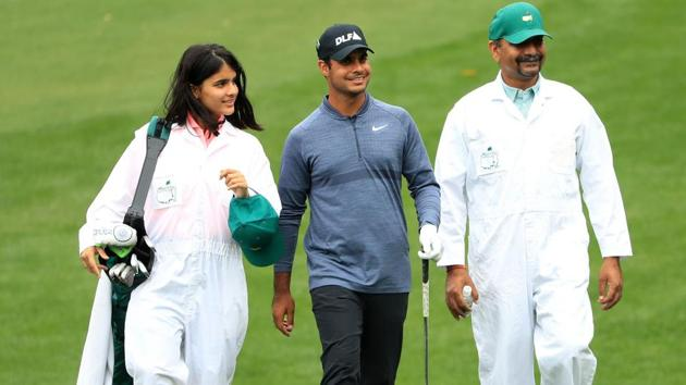 Shubhankar Sharma will be aiming to emulate Jeev Milkha Singh's performance in the 2007 Augusta Masters when he finished tied-25th.(AFP)