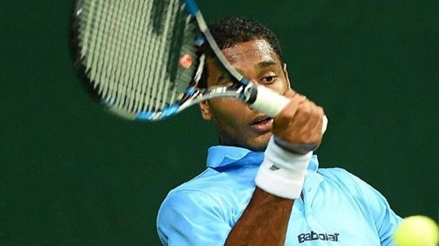 (FIle pic) Ramkumar Ramanathan began Davis Cup match by breaking Yibing Wu's serve but that was the only high point of the match for India in the Davis Cup tie vs China on Friday.(AFP)