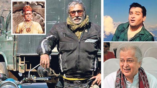 (LtoR) Prithviraj Kapoor, Aditya Raj Kapoor, Shammi Kapoor and Shashi Kapoor.