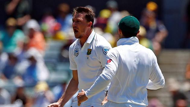 Dale Steyn suffered a heel injury during the first Test against India which ruled him out of the four-Test series against Australia.(REUTERS)