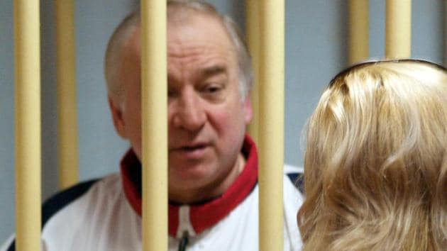 In this file photo taken on August 09, 2006, former Russian military intelligence colonel Sergei Skripal attends a hearing at the Moscow District Military Court in Moscow.(AFP)