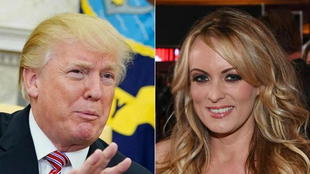 A federal judge in Los Angeles on March 29, 2018 rejected a motion by adult film actress Stormy Daniels Thursday to depose President Donald Trump over an alleged affair with the performer.(AFP Photo)