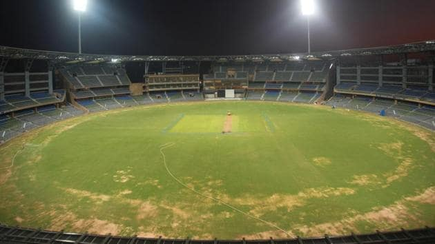 Wankhede stadium in Mumbai will host IPL's opening match today.(HT File)