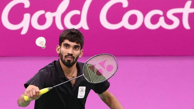 India entered the semi-finals of the badminton mixed team event at the 2018 Commonwealth Games after crushing Mauritius 3-0 on Saturday. Kidambi Srikanth took just 29 minutes to beat Georges Julien Paul 21-12, 21-14 in the men's singles.(Twitter)