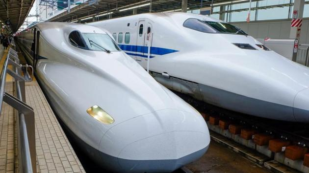 The ambitious bullet train project of the central government is passing through nine villages in Thane district.(REPRESENTATIONAL PHOTO/HT FILE)