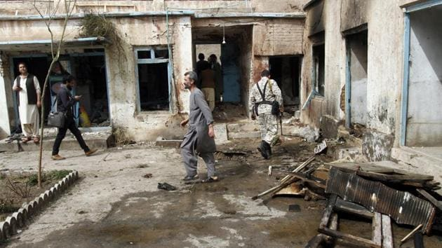A bombing attack in Afghanistan. Qari Hekmat, the Islamic State commander killed in airstrike, was involved in or responsible for deadly terrorist attacks in the country.(AP File Photo)