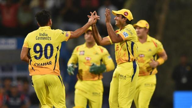 Chennai Super Kings claimed first IPL wicket via DRS against Mumbai Indians.(PTI)