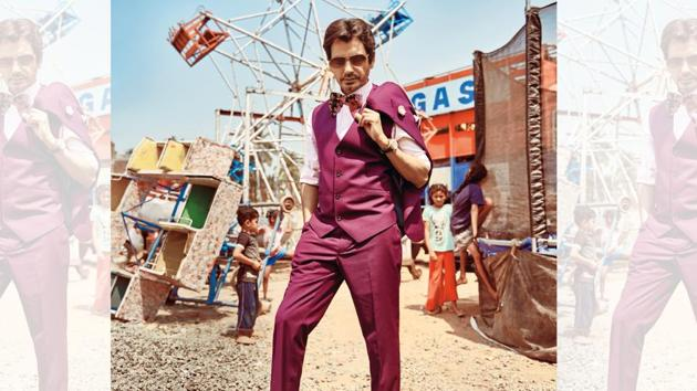 Nawazuddin Siddiqui's journey has been a quintessential Bollywood rags to riches story. (Styling: Akshay Tyagi; Styling assistant: Mayuri Nivekar; Make-up and hair: Rajesh Nag; Wardrobe: Outfit, The Maroon Suit Company; lapel pin and pocket square, The Tie hub; bow tie, Zara; watch, Jaipur Watch Company; sunglasses, Opium Eyewear; Socks, Happy Socks; shoes, Trumpet Shoes)(Prabhat Shetty)