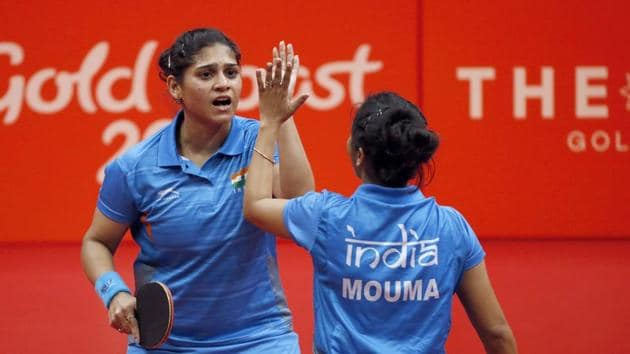 India women's table tennis team defeated Singapore 3-1 in the 2018 Commonwealth Games to clinch the gold medal.(REUTERS)