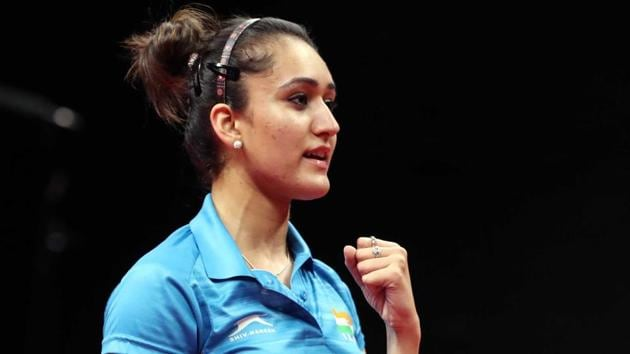 Manika Batra defeated world No. 4 Feng Tianwei en route to helping India defeat Singapore for gold medal at the Commonwealth Games 2018 in Gold Coast.(REUTERS)