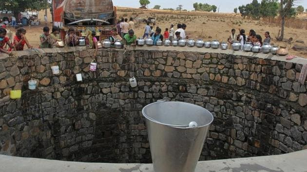 61% of wells witnessed a decline in water levels in India in the last one decade.(HT)