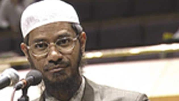 Naik landed in trouble when reports emerged that terrorists who attacked a Dhaka cafe on July 1, 2016, were his followers.(HT Photo/File)