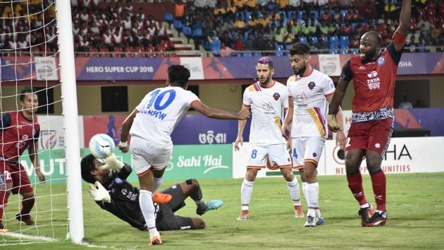 FC Goa trounced Jamshedpur FC 5-1 in the quarterfinals of the Super Cup on Thursday.(AIFF)
