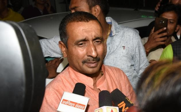 Legal experts say Sengar (pictured) has been booked for cognizable offence and non-bailable offences under which he is required for immediate custodial interrogation by the police.(HT Photo/Subhankar Chakraborty)