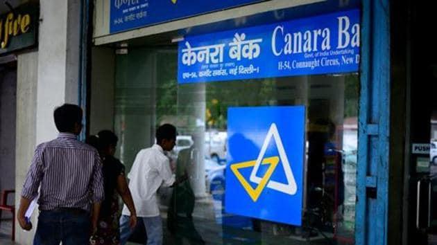 Canara Bank Connaught Circus Branch in New Delhi.(Pradeep Gaur/ Mint File Photo)