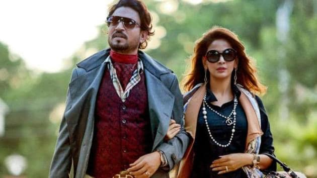 """Irrfan Khan plays a middle-class parent in Hindi Medium, with his character struggling to find a good a """"English medium"""" school for his daughter."""