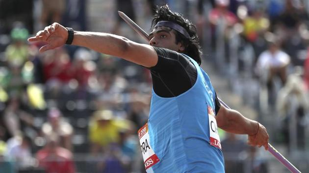 India's Neeraj Chopra won gold in the men's javelin throw final event at the 2018 Commonwealth Games at Gold Coast on Saturday.(AP)