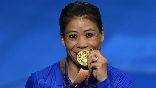 Get highlights of 2018 Commonwealth Games in Gold Coast here. Indian boxing great Mary Kom won the women's 48 kg category gold at the 2018 Commonwealth Games in Gold Coast on Saturday(PTI)