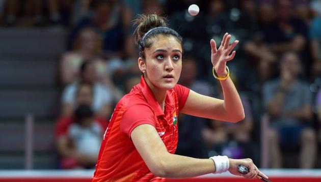 Manika Batra beat Singapore's World No. 4 Tianwei Feng twice during the table tennis event at the 2018 Commonwealth Games (CWG 2018) -- in the women's team final and the women's singles final.(PTI)