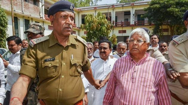 Lalu Prasad's recent non-concurrent sentences for the same set of offences in the fodder scam not only go against reformative theory of punishment but are in clear violation of decisions of the Supreme Court(PTI)