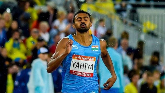 Muhammed Anas broke the India's national record in men's 400m final at the 2018 Commonwealth Games.(PTI)