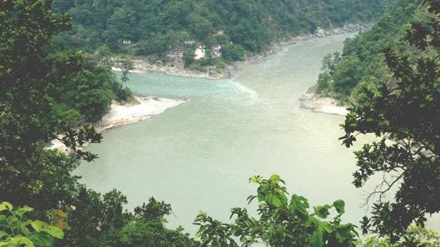 The proposed site for Pancheshwar dam project. Pancheswar, a multi-purpose project conceived under 1996 Mahakali treaty between India and Nepal, got a fillip when Prime Minister Narendra Modi visited Nepal in 2014.(HT File Photo)