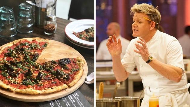 Ramsay tweeted a photo of vegan pizza.(Gordon Ramsay/Twitter, Facebook)