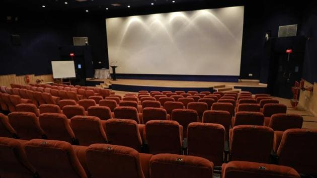 The auditorium of NFAI in Pune where the movies are to be screened.(HT PHOTO)