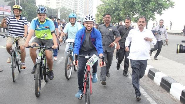 Yuva Sena chief Aaditya Thackeray had flagged off the project in December 2017.(HT File)