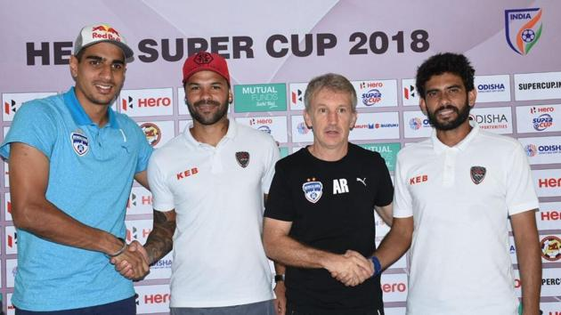 Bengaluru FC and East Bengal will face off in the Super Cup final in Bhubaneswar on Friday.(HT photo)