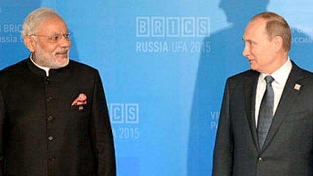 and President of China Xi Jinping at during BRICS (Representational Image). A top US admiral has warned Congress against sanctioning countries including India over defence purchases from Russia.(AP File)