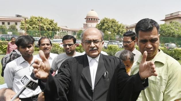 The Supreme Court said that the petition was a veiled attempt to launch a frontal attack on the independence of judiciary and to dilute the credibility of judicial institutions.(Sushil Kumar/ Hindustan Times)