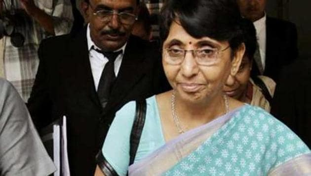 Former Gujarat minister Maya Kodnani leaves a court in Ahmedabad. A special court had convicted 32 in the Naroda Patiya massacre.(AP File Photo)