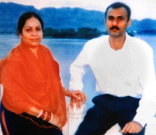 Sohrabuddin Sheikh and his wife Kausar Bi(Ht file photo)