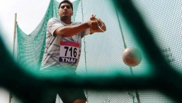Ashish Jakhar was the star of the final day of the Federation Cup Junior National Athletics Championships.(Twitter)