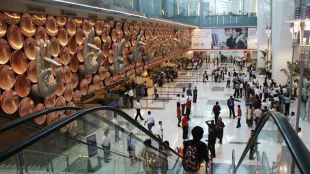 At the newly-refurbished T2 terminal, DIAL has opened a new lost property room where the items are stacked under CCTV surveillance.(HT file photo)