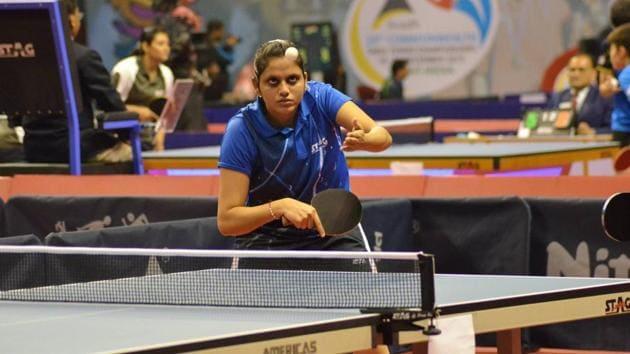 Pooja Sahastrabuddhe, CWG 2018 gold medallist.(HT PHOTO)