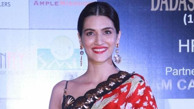 Kriti Sanon just showed that if she wants to wear saree fringed pants wrap skirt at one time she will wear saree fringed pants wrap skirt at one time IANS